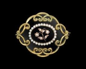 Mourning Jewelry Brooch