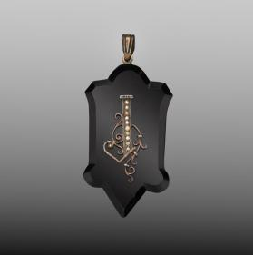 Mourning Jewelry Pendant