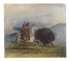 Chase by Pawnee Indians