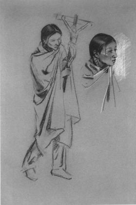 Indian with Crucifix