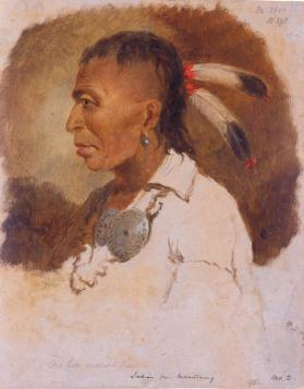 Awbonwaishkum, Ottawa Chief from Manitowaning